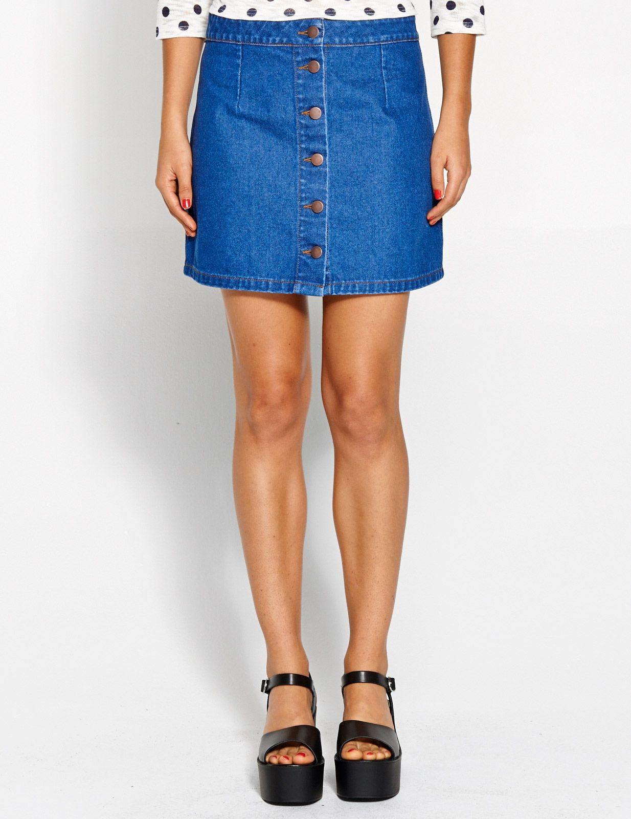 Image for Button Through Denim Skirt from Dotti | When I get paid ...