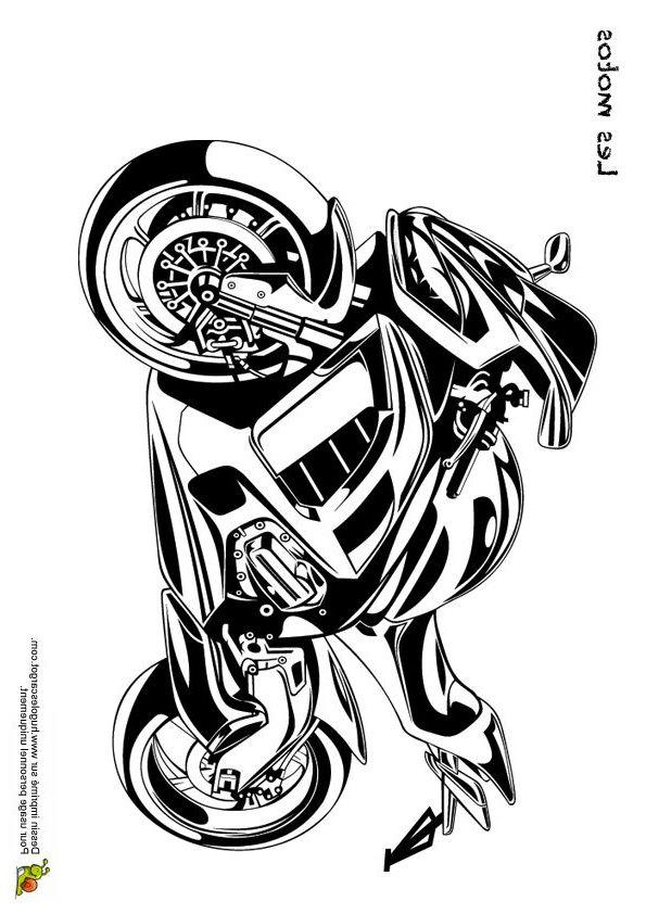 coloriages de motos et kartings #coloriagedunemotocross #coloriagedemotocrossfreestyle # ...