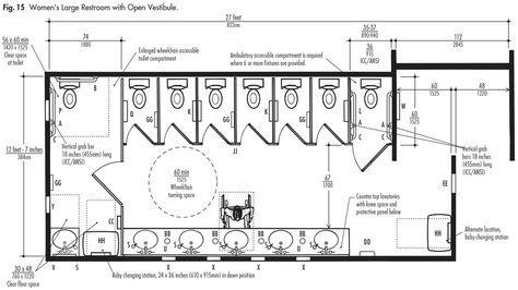Large Public Restrooms in 2020 Toilet plan, Restroom