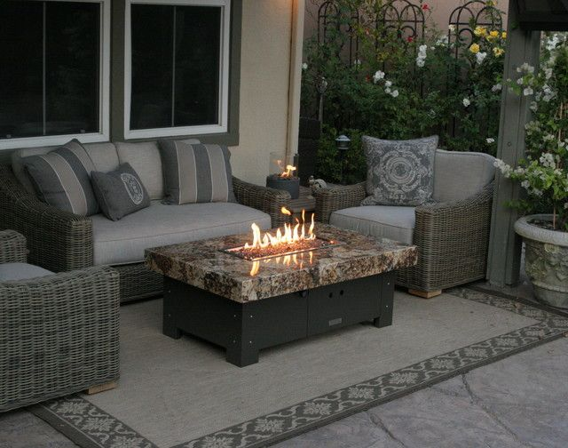 Balboa Fire Pit Table By COOKE   Eclectic   Firepits   Orange County    Cooke Furniture