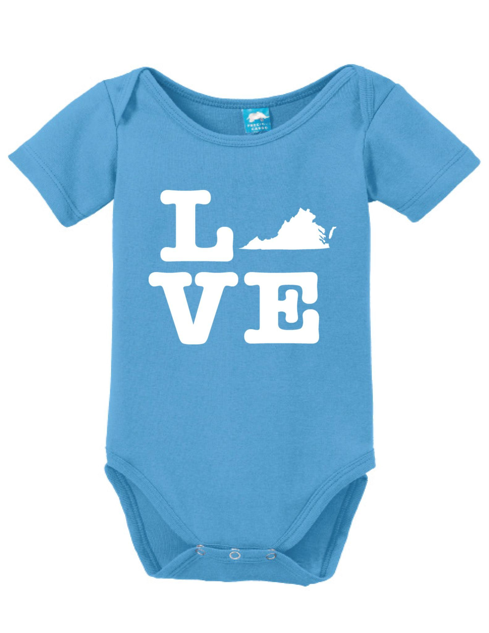 Virginia Love Onesie Funny Bodysuit Baby Romper