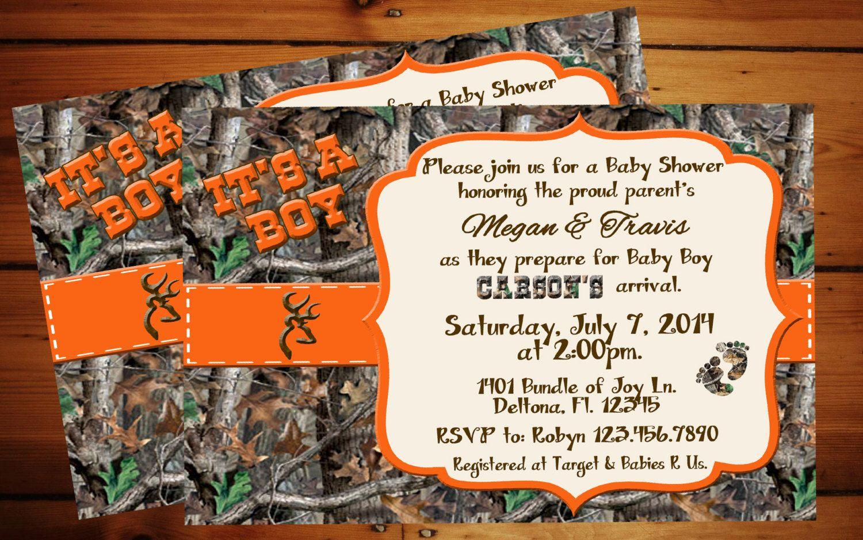 it's a boy camo baby shower invitation. | baby bland | pinterest