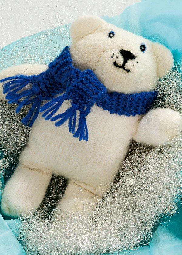 Polar Bear Toy Free Knitting Pattern PDF Knitted