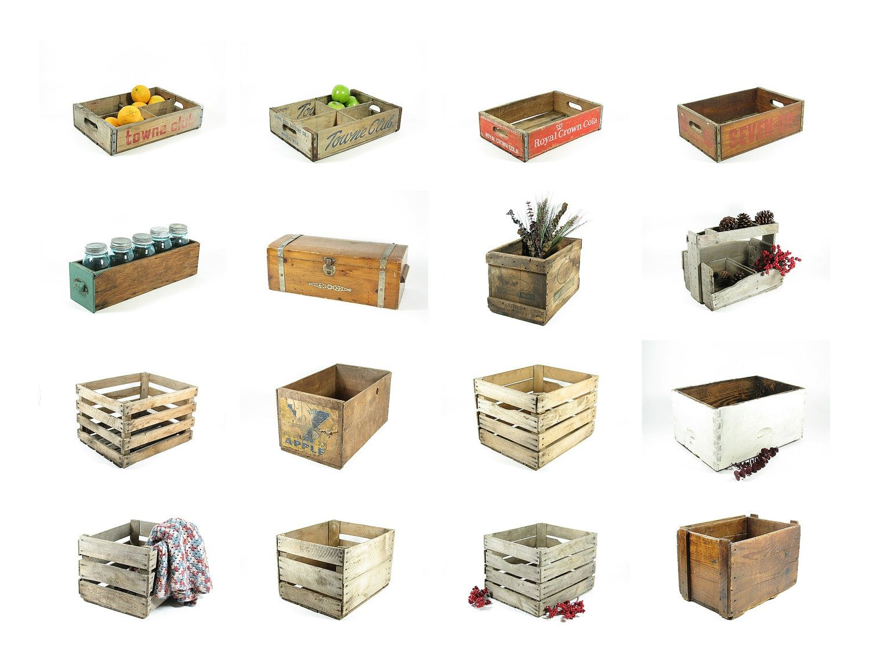 Wooden Crate With Handles Vintage Fruit Crate Wooden Storage Box Golden Glow Prunes Ca