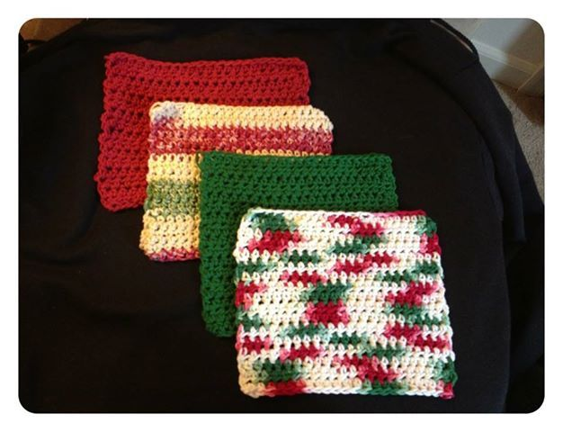 washcloths. Other colors available. Just ask. Please visit my FB page at: https://www.facebook.com/KPKreations