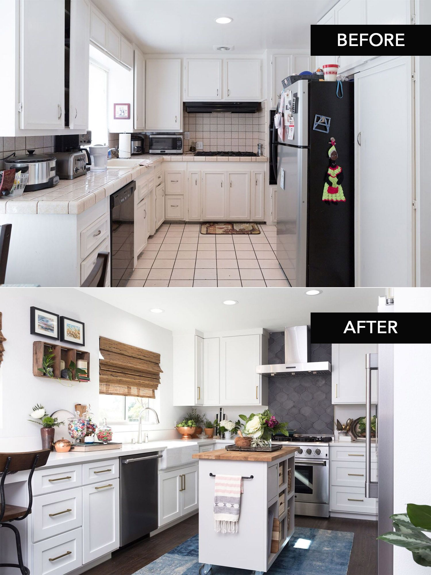 STUNNING Before & After Kitchen Transformation As Seen On