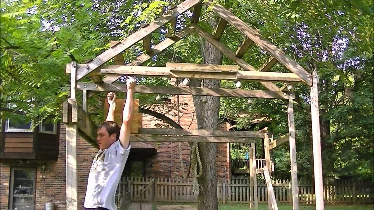 Homemade Ninja Warrior Obstacle Course (good basic idea ...