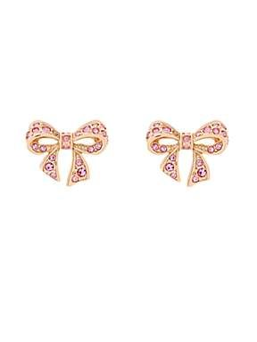 Ted Baker Pepe Pave Crystal Small Bow Earrings House Of Fraser
