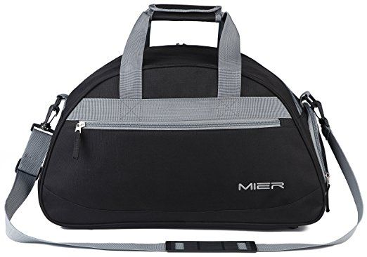 MIER Gym Bag Sports Holdall Weekend Travel Duffel Bag with Shoes Compartment  for Women and Men, 2 Colors (Pink)  Amazon.co.uk  Luggage 0d8097fdc3
