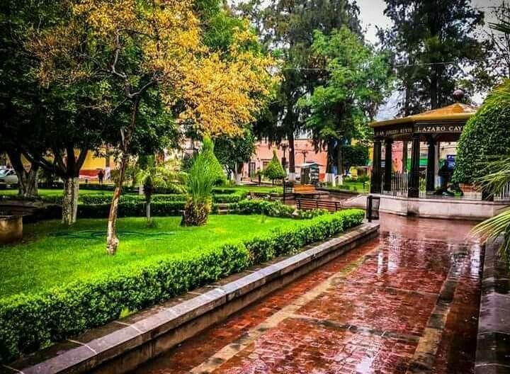 Jardín principal, Santa María del Río San Luis Potosí. México. | San luis, Santa  maria, Santos
