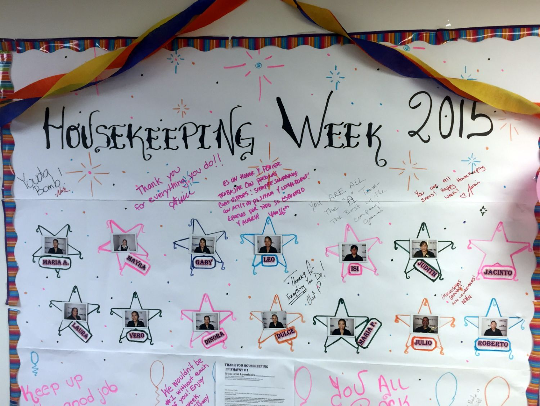Image result for Housekeeping Appreciation Week Ideas