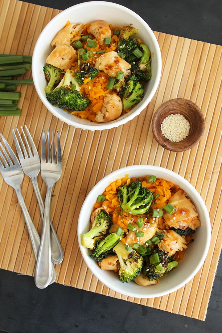 Teriyaki Chicken And Broccoli With Butternut Squash -7202