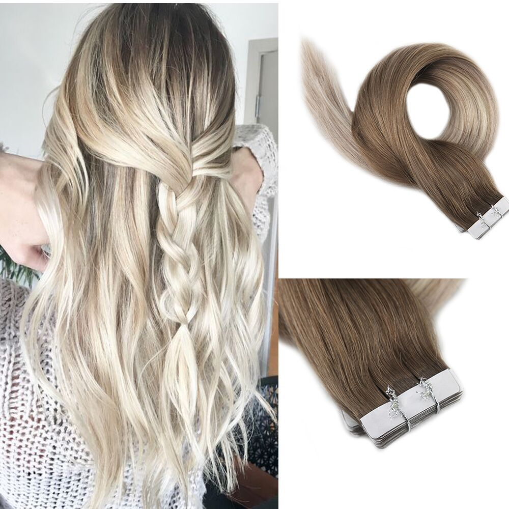 Balayage Tape In Extension Glue In Hair Extensions Human Hair Ombre