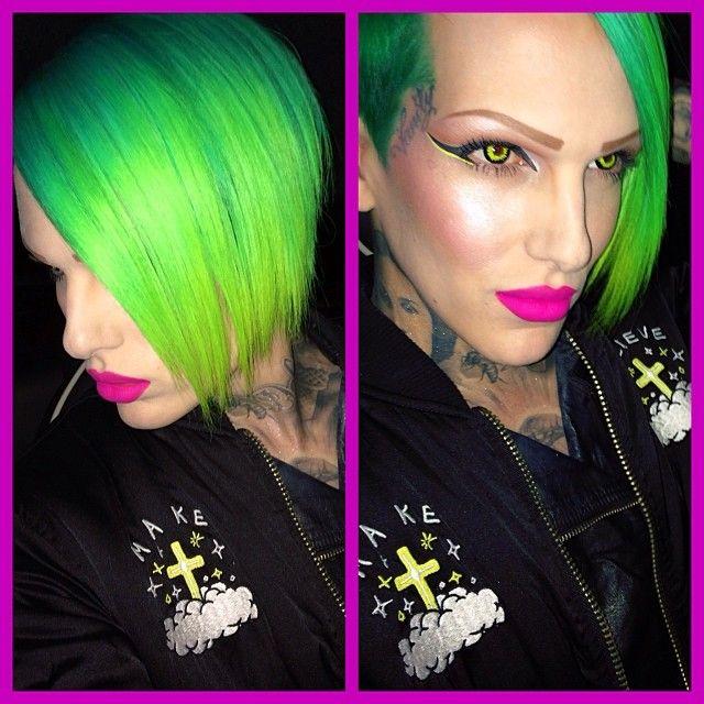 Green eyed tranny
