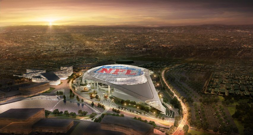 Hks Architects Has Revealed Its Design For The New Home Of American Football Team La Rams Which Will Featu Nfl Stadiums New Football Stadiums Los Angeles Rams