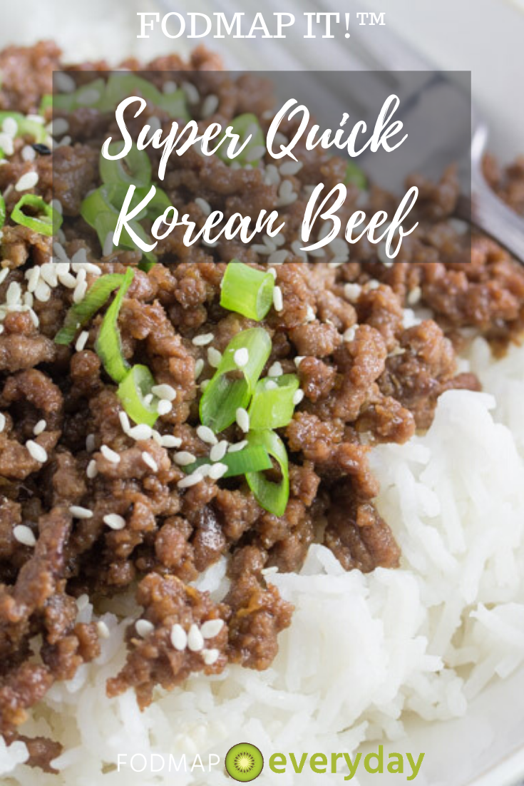 Fodmap It Super Quick Korean Beef Fodmap Everyday Recipe In 2020 Beef Recipes Korean Beef Ground Beef
