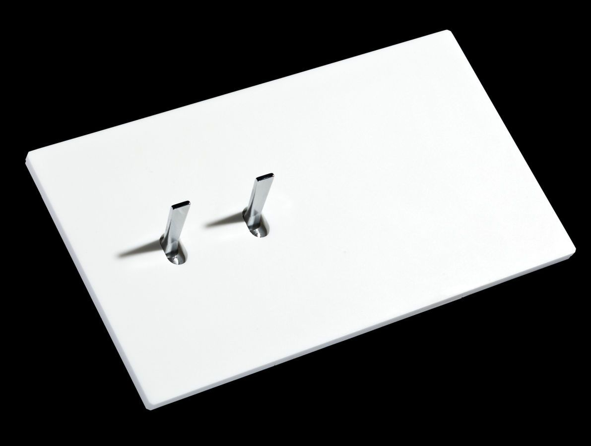 Jung Duo Dimmer Toggle Light Switch 5 1 White Corian Font Barcelona