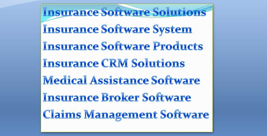 Its all about the insurance software solutions, MEDINYX