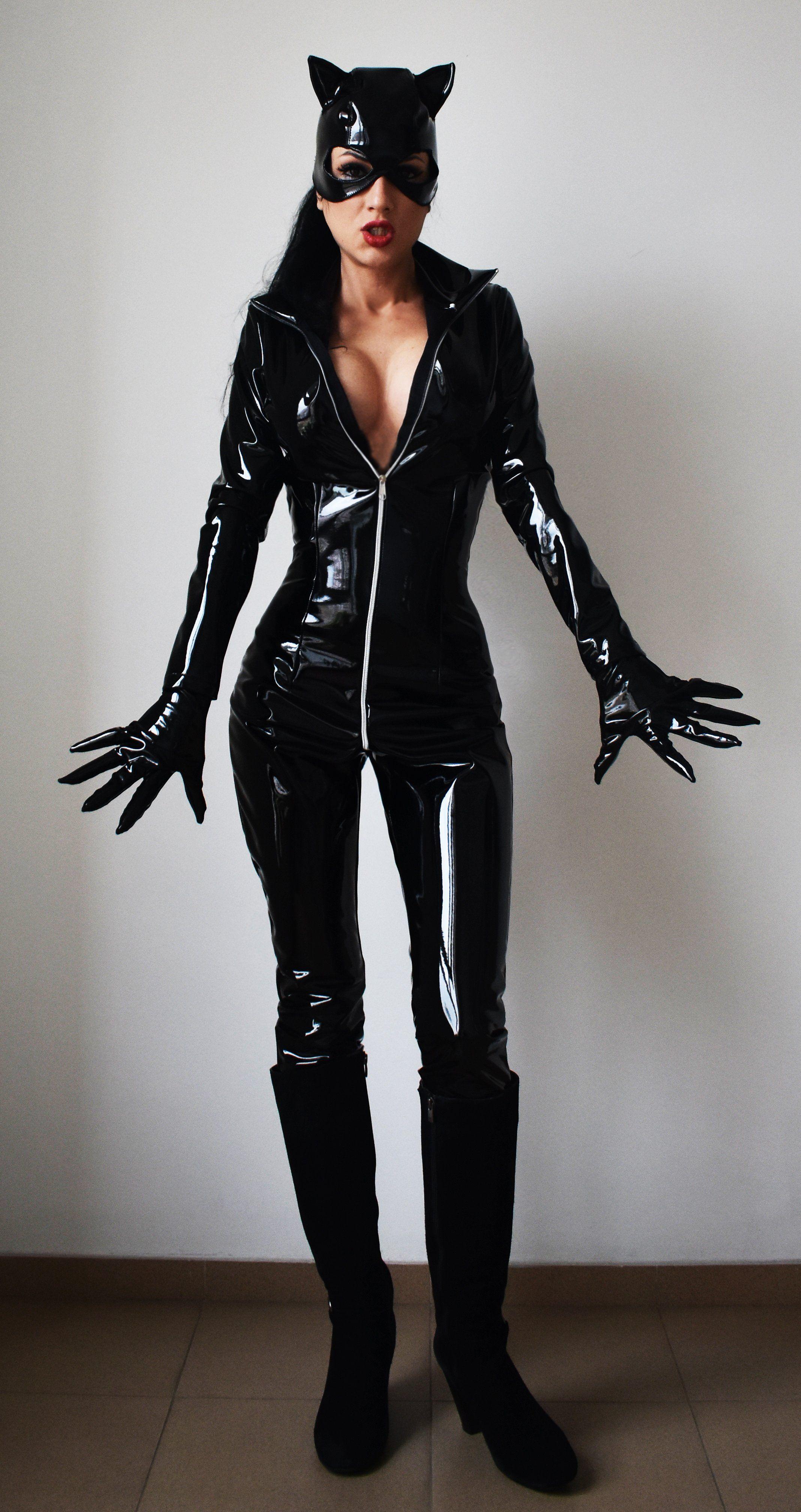 costume Catwoman latex