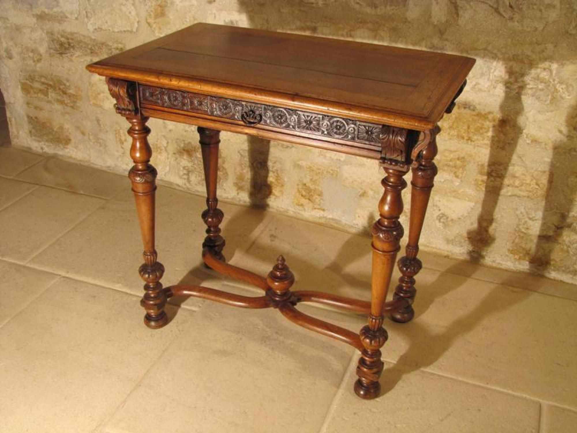 Antique gothic revival furniture for sale - Antique For Sale Renaissance Revival Table With Balusters Writing Desk Table Desk Other Piece Of Furniture