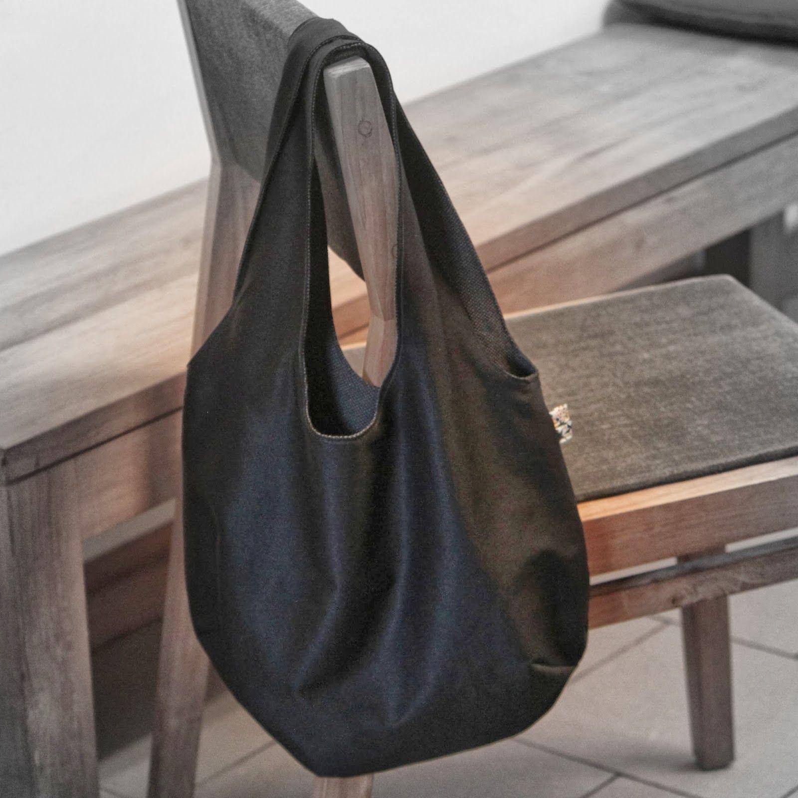 Sac main r versible tutoriel reversible shopping bag tutorial id es couture - Couture sac a main ...