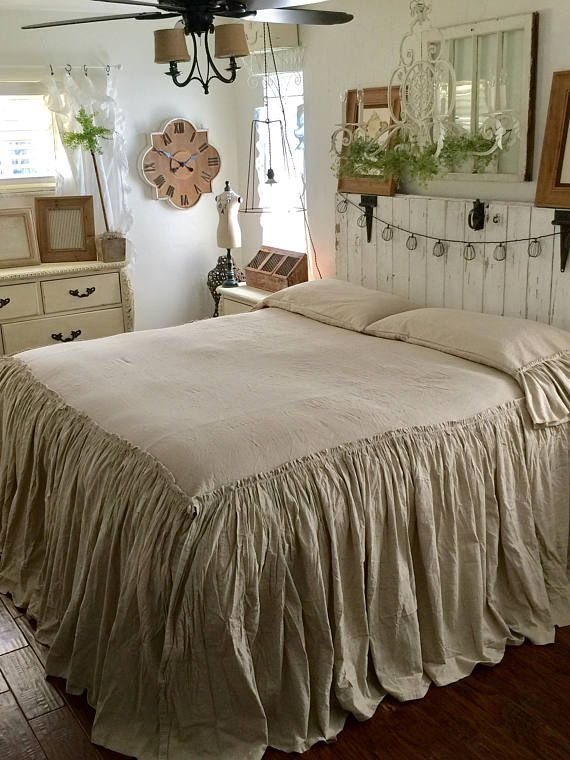 You asked for it here it is ruffled bed coverlett 100 for Frilly bedspreads