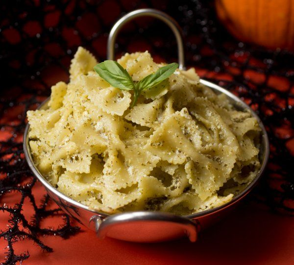 This spooky pasta is perfect for dinner Halloween- or any time - halloween entree ideas