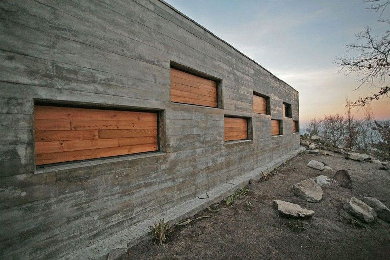 BeautifulcasadaladeiraHomeExteriorDesignwithConcreteWall - House exterior wall design