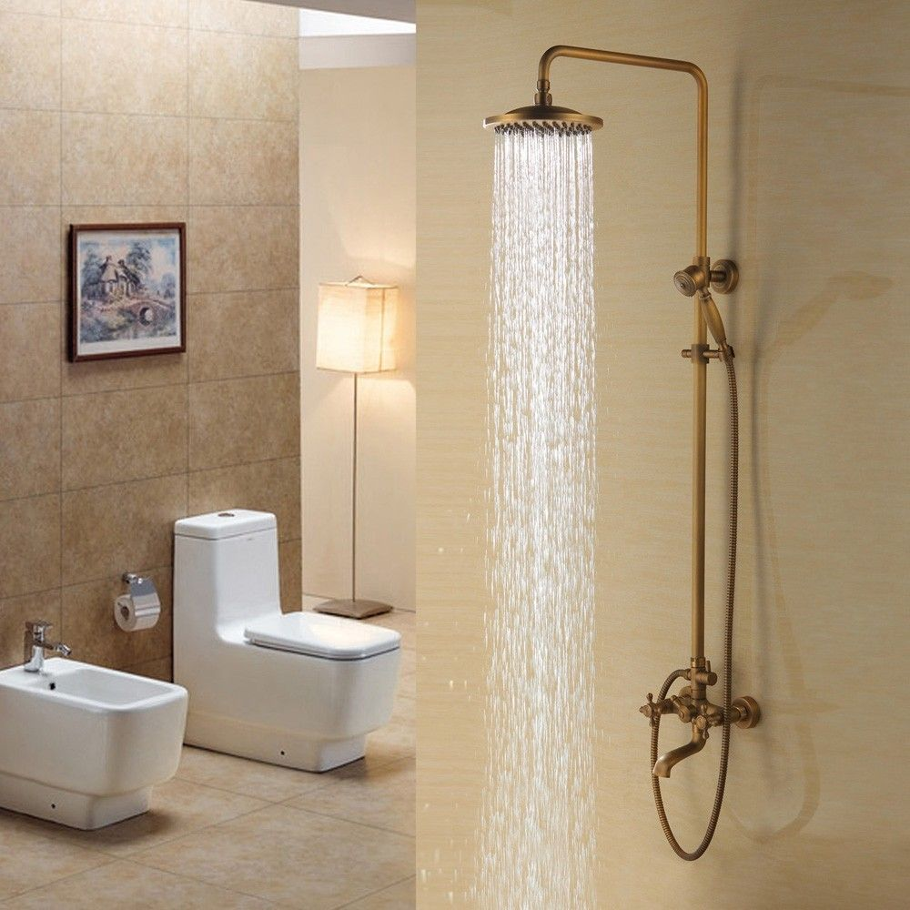 Traditional Rainfall Exposed Shower System With Tub Spout