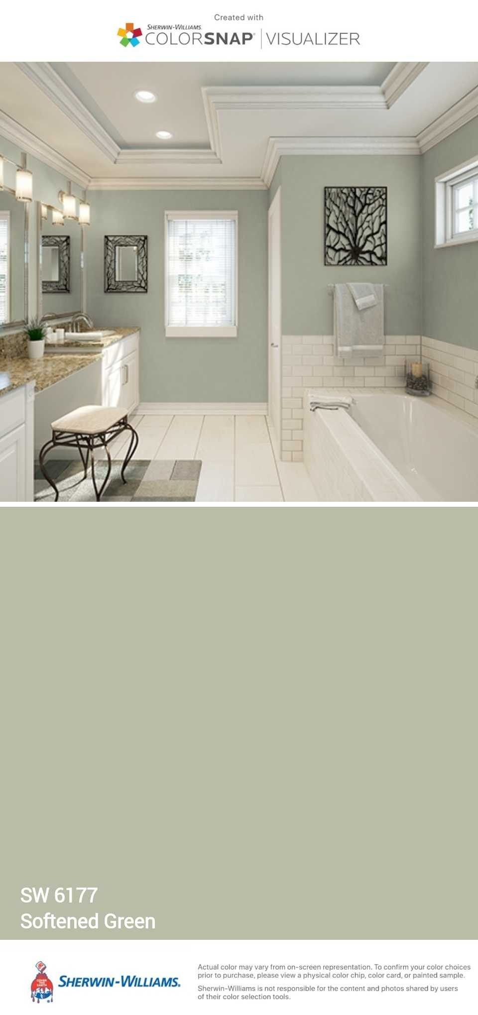 Softened Green Master Bedroom Or Bathroom Paint Colors For Home Small Bathroom Colors Bathroom Colors