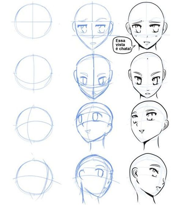 How to Draw Anime Characters Step by Step (30 Examples ...