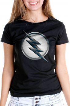 05e51ce192 Camiseta Feminina The Flash Série Logo Zoom