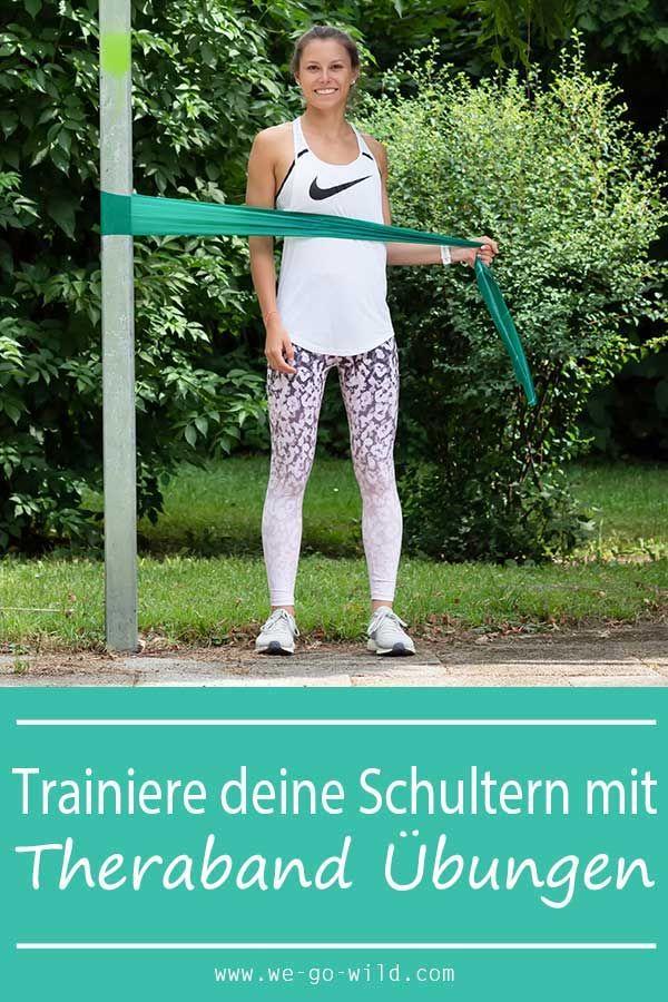 So kannst du mit Theraband Übungen Schulter und Rücken stärken! Starte jetzt mit dem Schultertrainin...