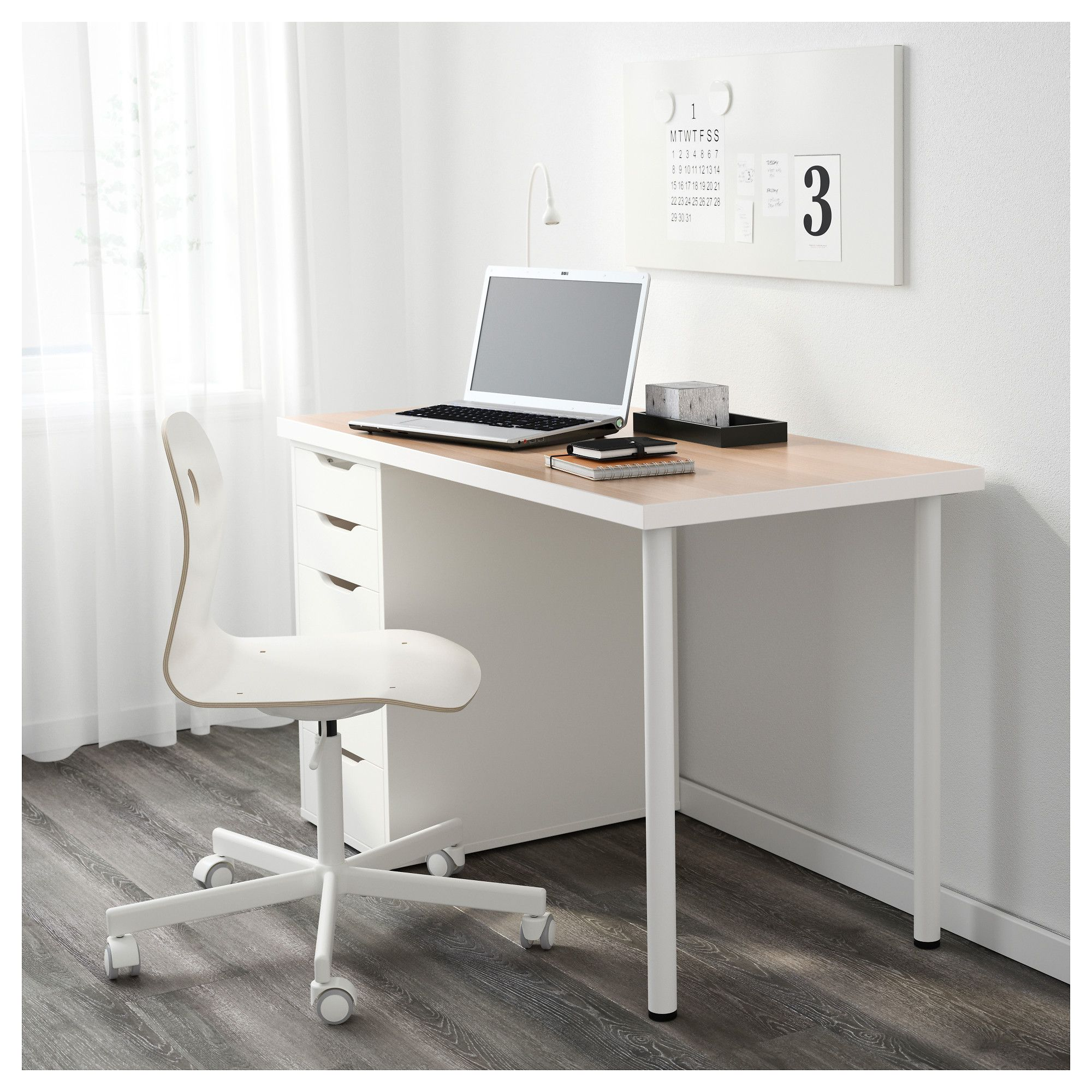 afdedc4e8df IKEA - LINNMON   ALEX Table white stained oak effect