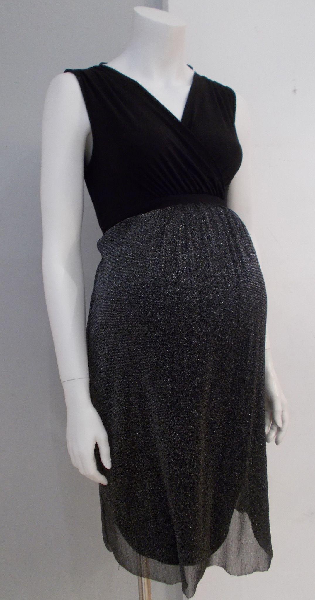 65b66ee18e7 Thyme Maternity - Sleeveless Evening Dress with Shimmer Bottom ...