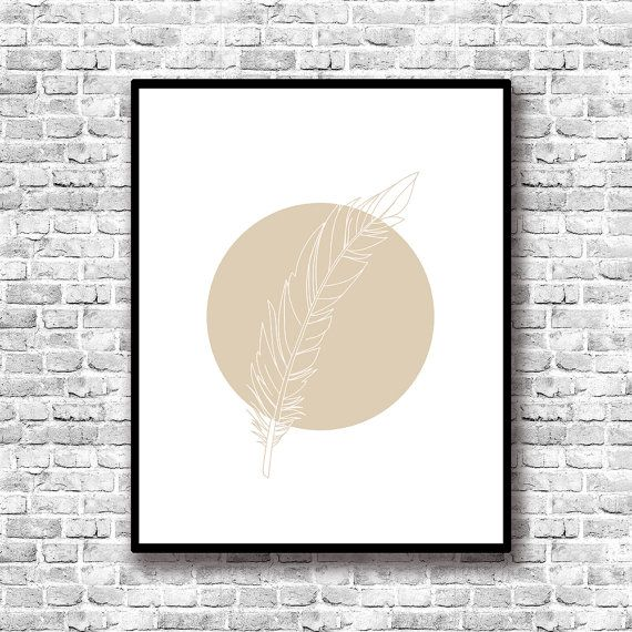 decoracin minimalista lmina pluma cuadro romntico lmina para imprimir