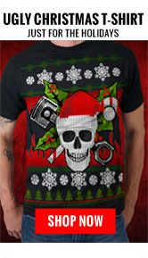 Ugly Christmas T-Shirt 50% off at Hot Leathers | Biker Style ...