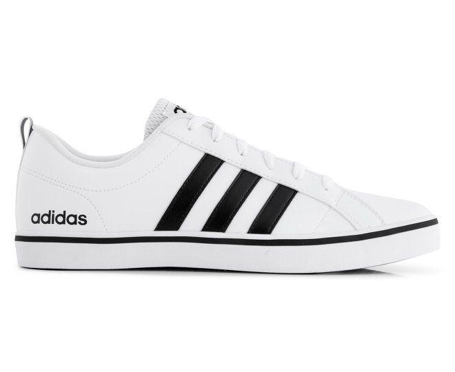 adidas neo uomini vs ritmo di calzature in cuoio bianco / nero / blu feeties