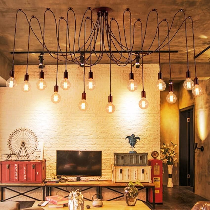 The Warmly Spider Chandelier In 2020 Light Bulb Chandelier Modern Light Fixtures Chandelier