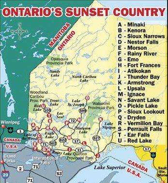 Destination Communities Map Sunset Country Lets Go Pinterest