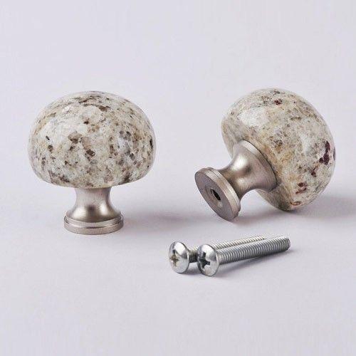 2MK32 Kashmir White Kitchen Granite Knobs