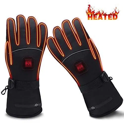 Heated Gloves With Rechargeable Batteries Gloves Waterproof Thermal Gloves Touchscreen Best Offer Outdoorfull Com Heated Gloves Cold Weather Gloves Gloves