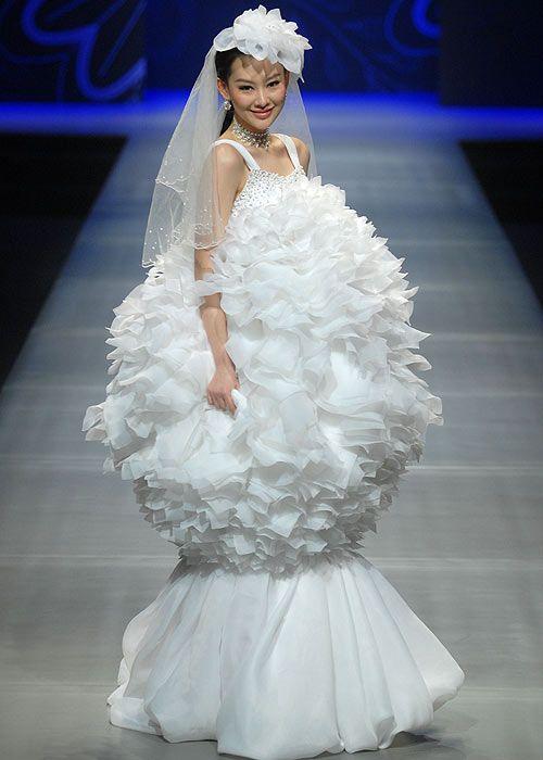 Los espectaculares vestidos de novia de la China Fashion Week ...