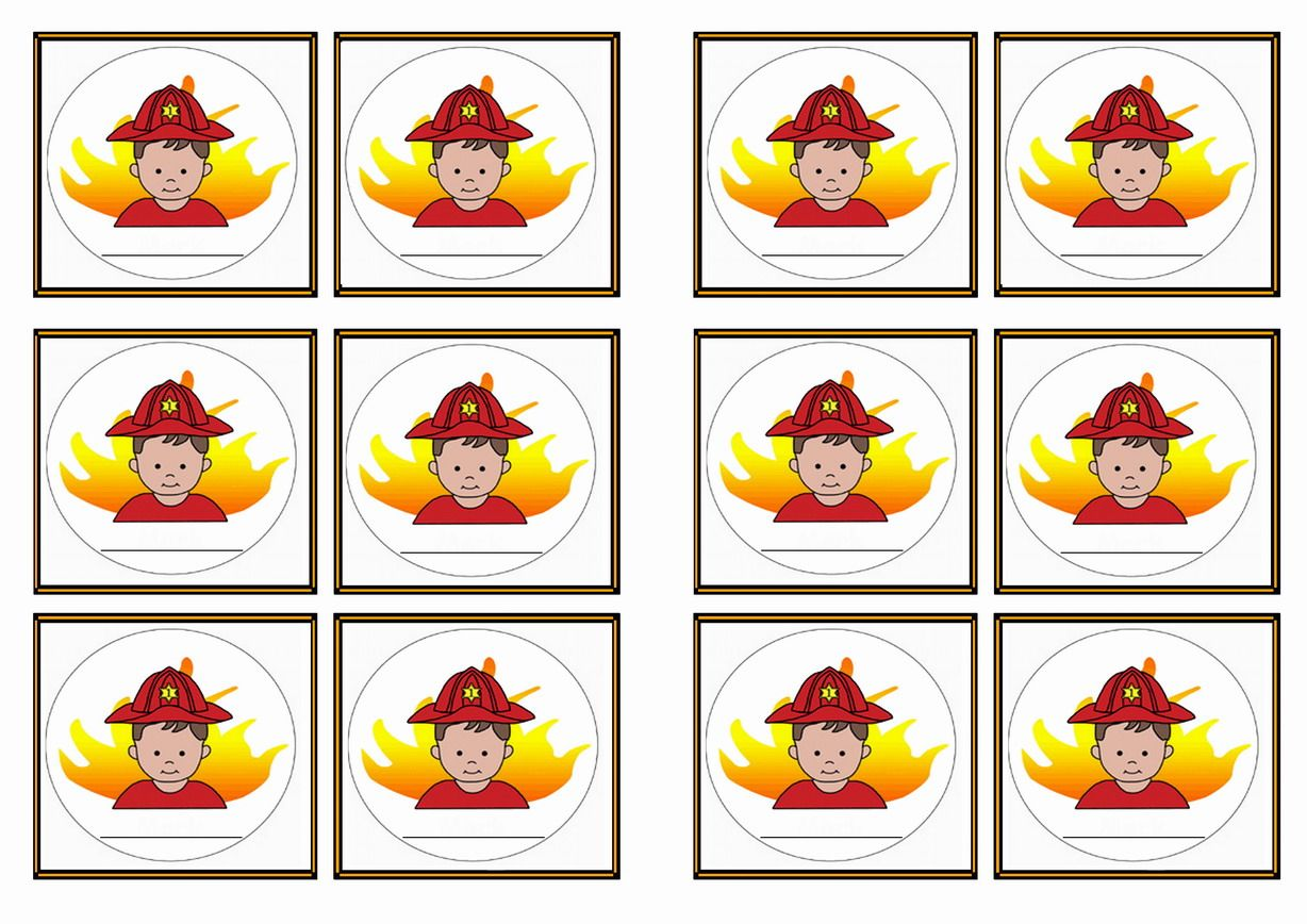 Free Printable Firefighters Themed Name Tags Themed Name Tags