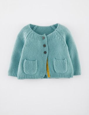 Baby Cardigan from mini boden. need to recreate this for the girls - i love the garter pockets