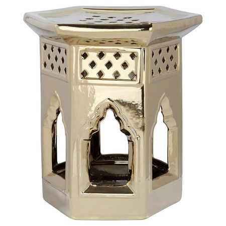 Found it at Wayfair.co.uk - Moroccan Garden Stool in Gold