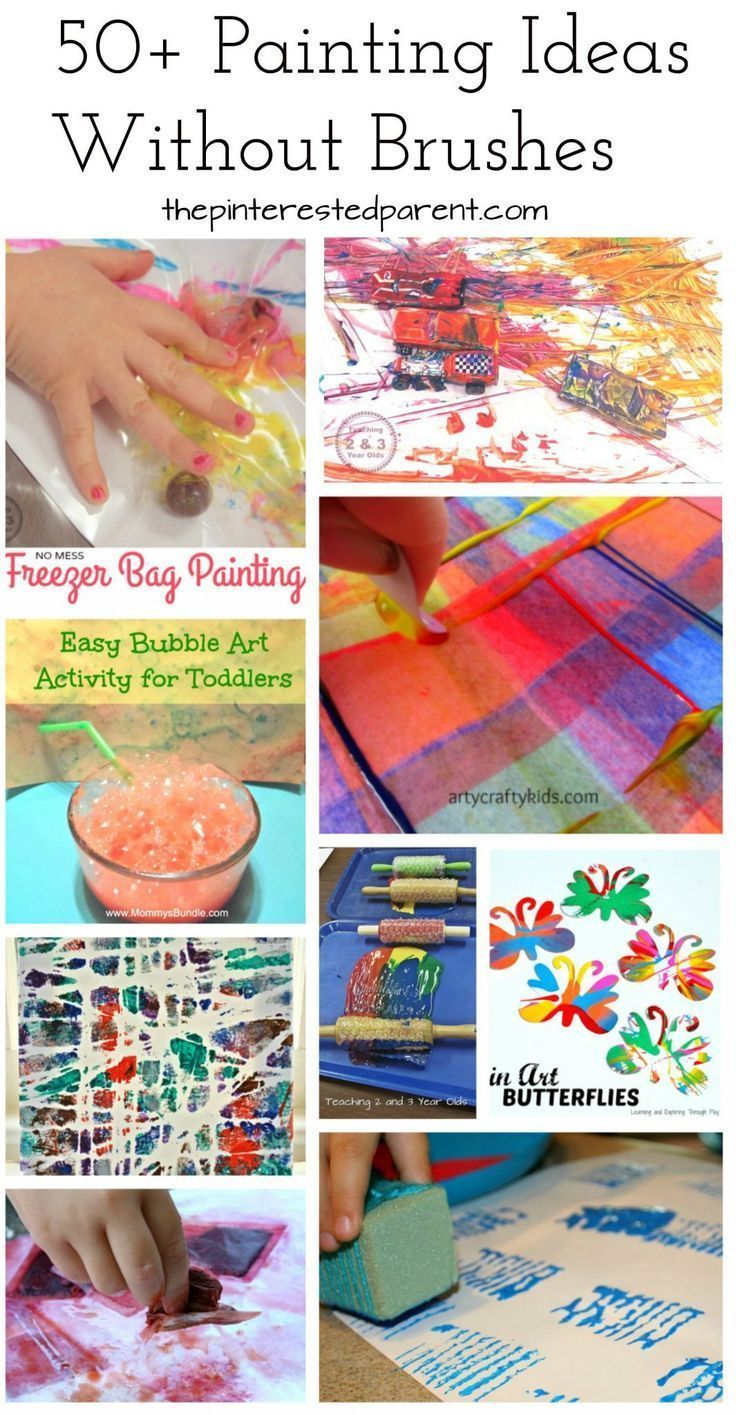 50 painting without brushes ideas art for kids pinterest