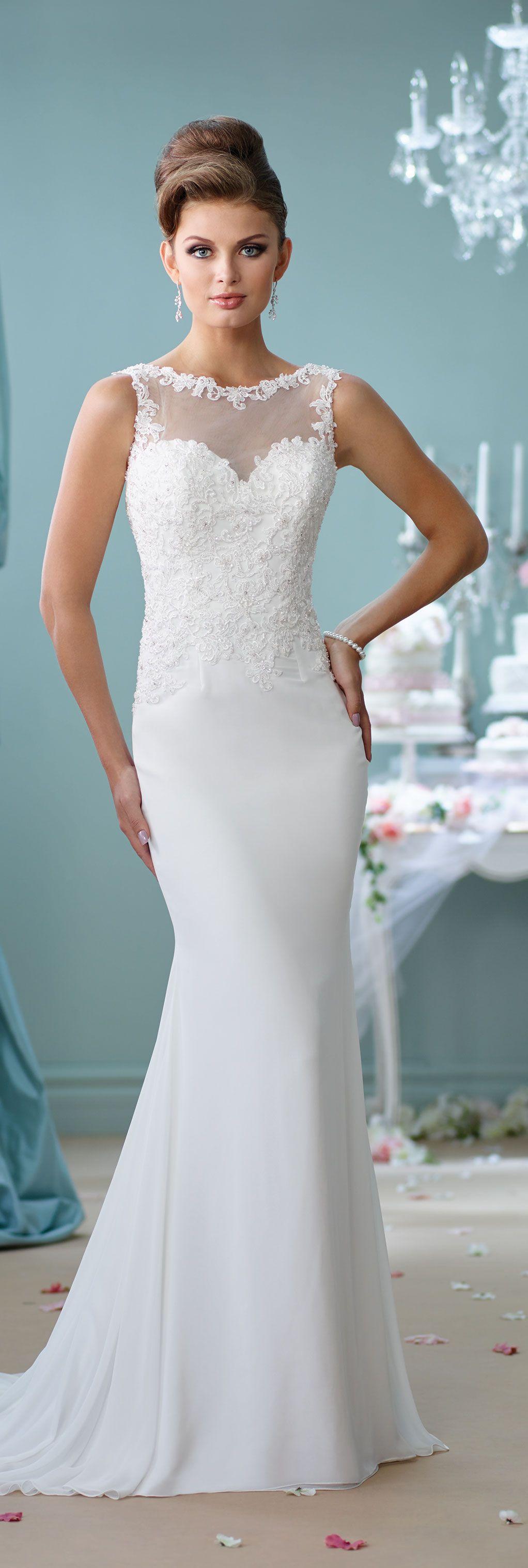 Modern wedding dresses by mon cheri wed pinterest wedding