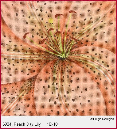 click here to view larger image of Peach Day Lily (hand painted canvases)