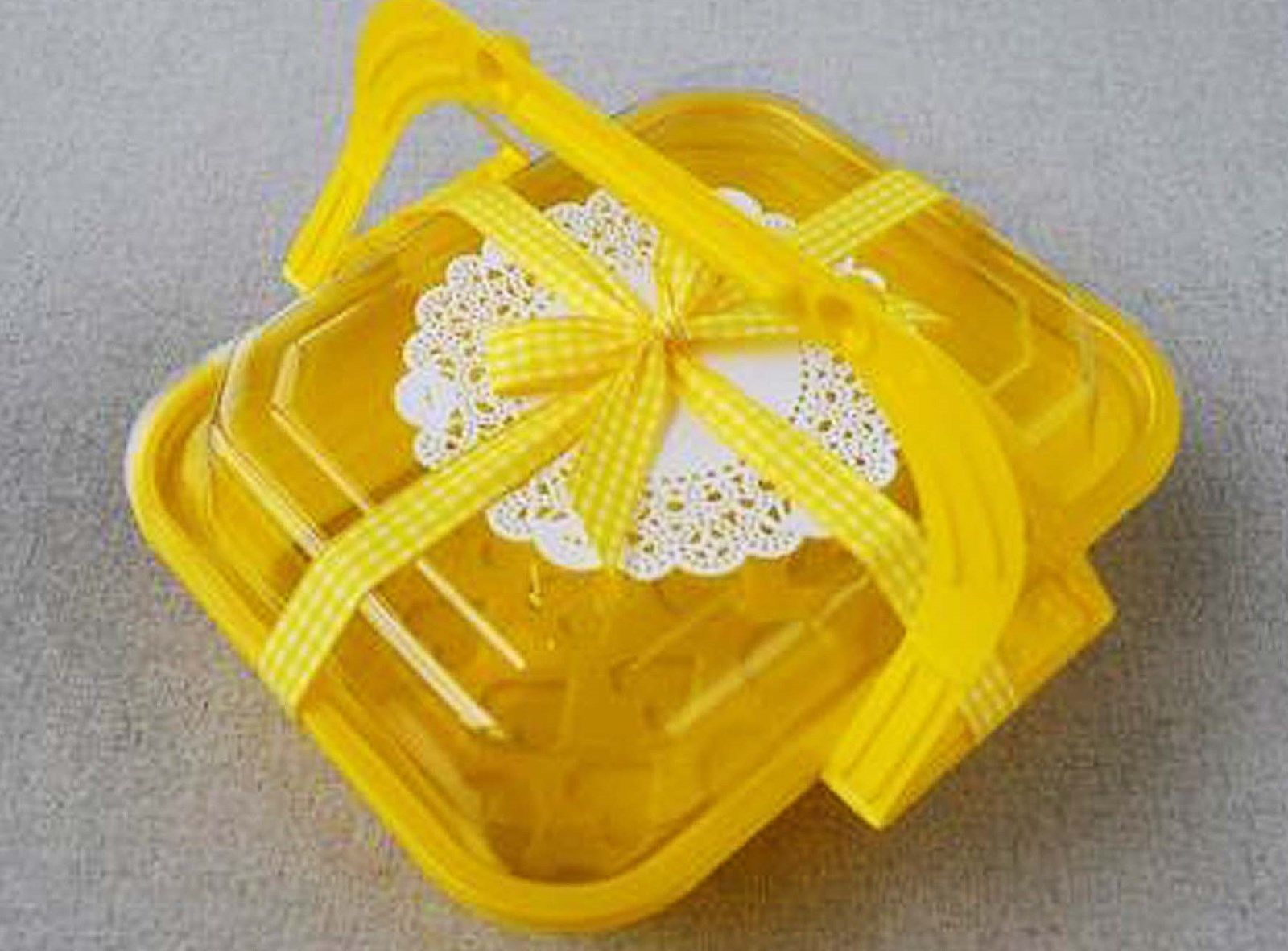10Pcs Disposable Plastic Food Storage Bento Lunch Box Takeaway Container-Yello